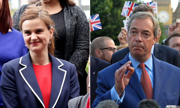 Outrage as Despicable Farage links Jo Cox widower to 'extremists'