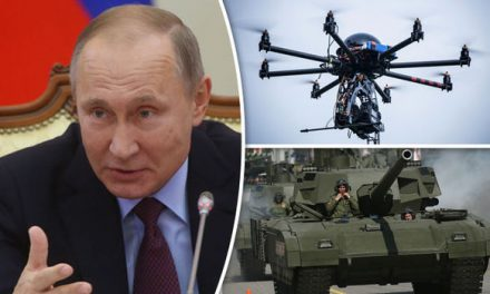 WARMONGERING PUTIN CAN'T RESTRAIN HIMSELF FITTING TANKS WITH 'PTERODACTYL' DRONES TO BOLSTER FORCES ON EUROPE'S BORDER